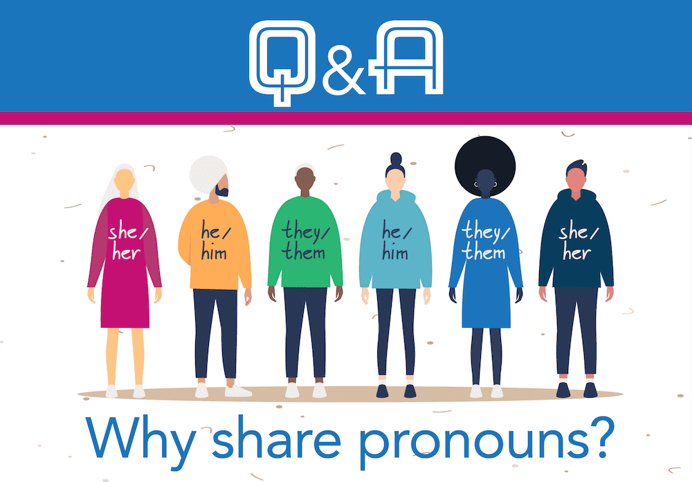 Why do people share their personal pronouns?