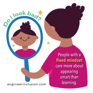 girl with mirror fixed mindset