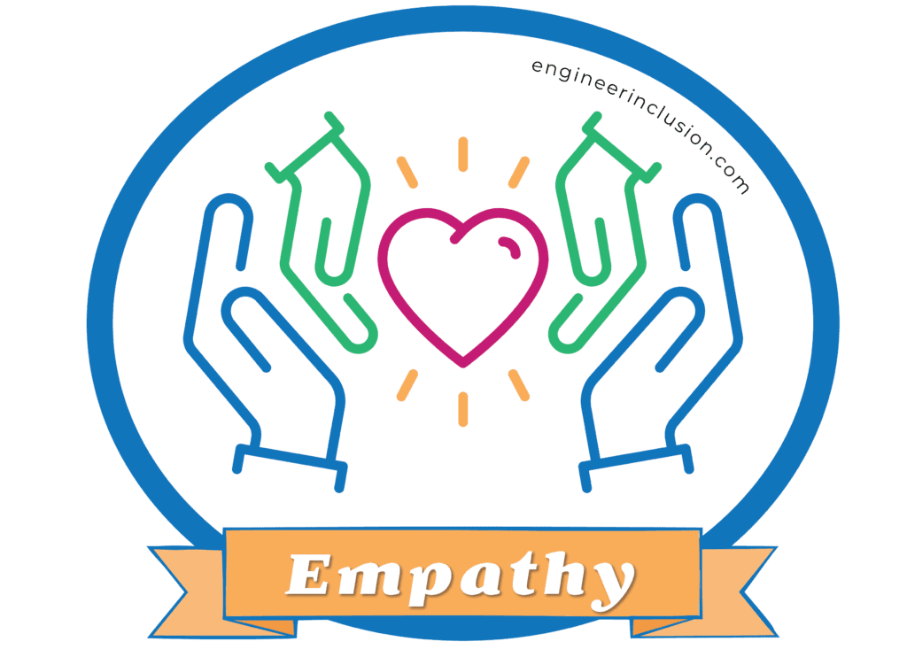 empathy - line drawings of two hands around a heart
